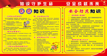 332 Public Service Poster display board material fire and safety prevention knowledge