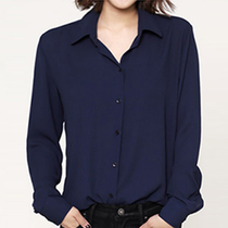New Spring and Autumn wear long-sleeved chiffon blouse Korean Fan College Wind casual shirt bottoming loose blouse