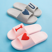 Cool slippers female summer home couples lovely home with indoor non slip bath plastic bathroom slippers