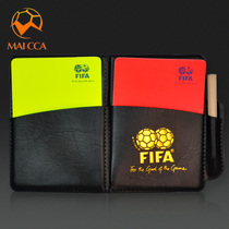 Genuine soccer referee equipped football match red yellow card with leather high-grade soccer red card record pen