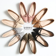In the spring of 2017 new Korean all-match Doug flat shallow mouth pointed shoes shoes shoes shoes shoes four pregnant women