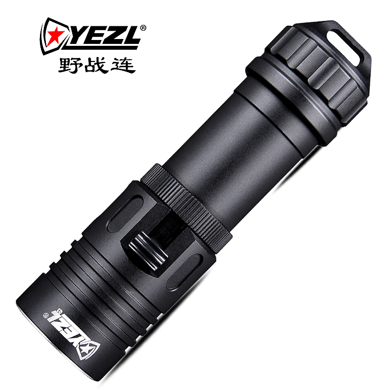 Glare diving flashlight T6 lamp beads 1100 lumens diving high brightness field with Q3 flashlight