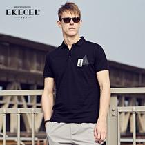 Summer men collar short sleeve t shirts POLO shirts mens trend of the Korean version of the slim mens summer shirt