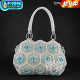 Hand-woven handbags shoulder bag handbag beaded bag bead bag 2017 new trendy fashion handbags