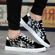 2017 new summer low canvas shoes men's shoes to help students trend of Korean superstar all-match men's shoes