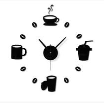 Creative DIY digital clock living room decorative art clock mute acrylic wall clock modern minimalist clock