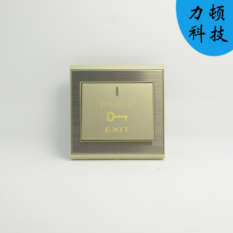 [The goods stop production and no stock]All-metal structure on the surface of wall-mounted metal wire drawing door-bell button automatic reset, press and close