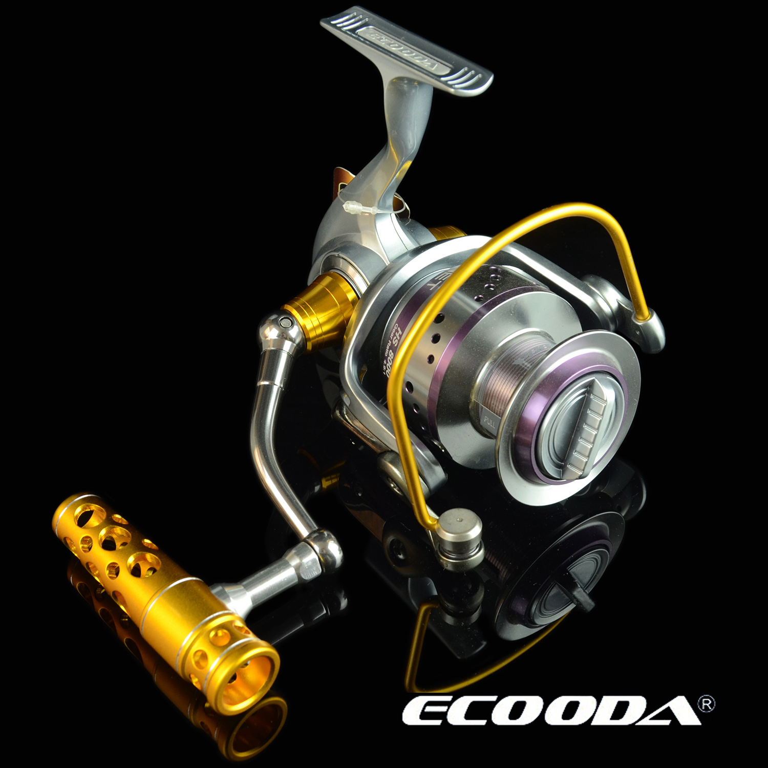 ECOODA/Ikuoda HS12000 7+1 axis Hummer all-metal heavy fishing heavy fishing boat fishing iron fishing reel
