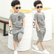 The big boys and 2017 new men's summer suit children in the summer wear short sleeved dress tide Korean boy