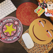 Korean cute cartoon animation creative Japanese animation peripheral soft sister smile round office game mouse pad