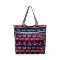 2019 new Guangxi ethnic minority wind large capacity womens bag printed fashion simple shopping bag shoulder bag