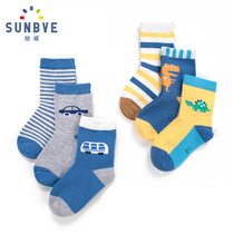 The spring and autumn and winter 1-9 boys cotton baby socks