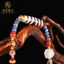 (Bijoux Junle) tibétain feu approvisionnement Tianzhu neuf yeux pur bricolage pendentif bracelet eardrop anneau clavicule lâche perles
