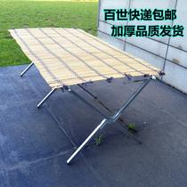 Night market stalls shelf stalls portable folding empty frame bamboo mat simple light shelf mobile catch-up display table