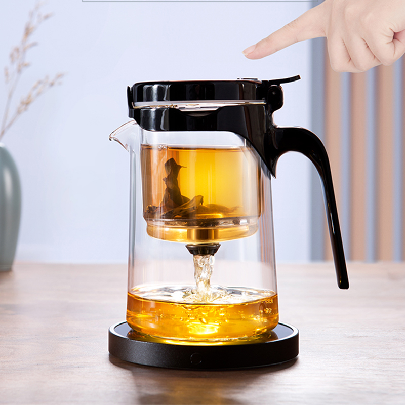 Bonta floating cup teapot all glass inside the bile one-click filter tea set can be disassembled tea separation simple teapot