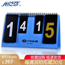 Galaxy Mini Scoreboard Portable score card 2-digit fractional card-combined Flip card scoreboard
