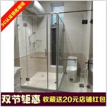 Beijing custom shower room sliding door tempered glass bathroom screen-shaped bathroom sliding door health break