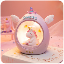 Unicorn night light ins girl heart room layout net red decorations stars lights lamps bedroom dormitory