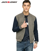 JACK&JONES JackJones mens leather sheepskin leather stitching spring jacket S216110008
