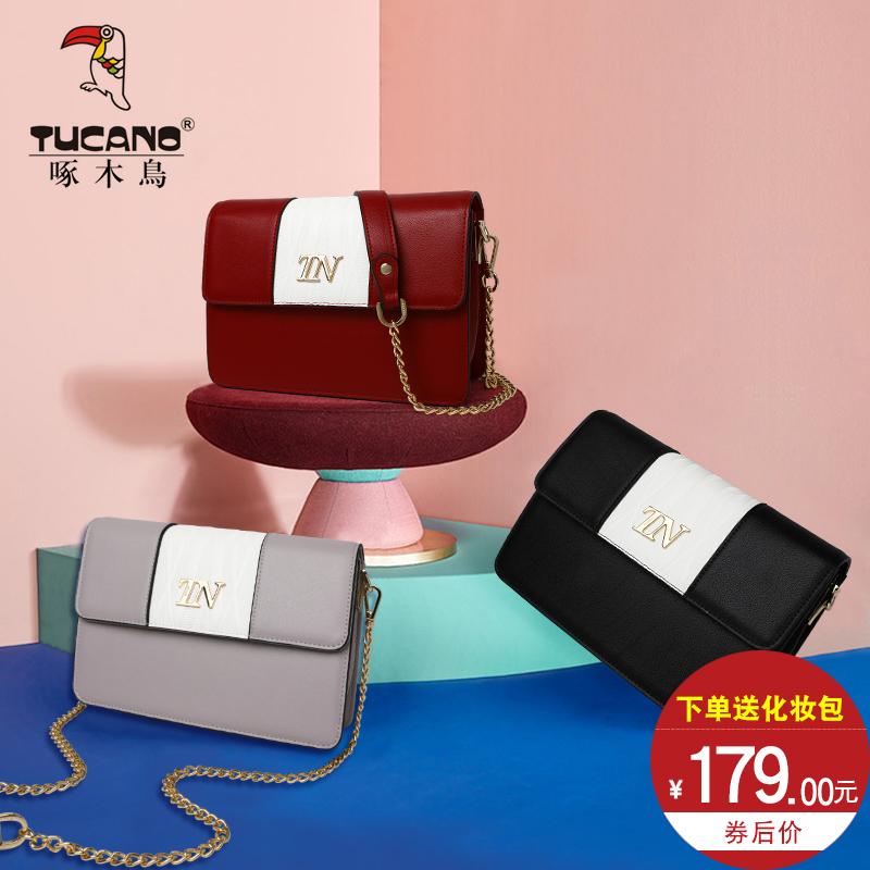 Woodpecker Bag Girl Spring 2009 New Fashion Korean Edition Single Shoulder Bag Colour Chain Lady Bag Slant Bag