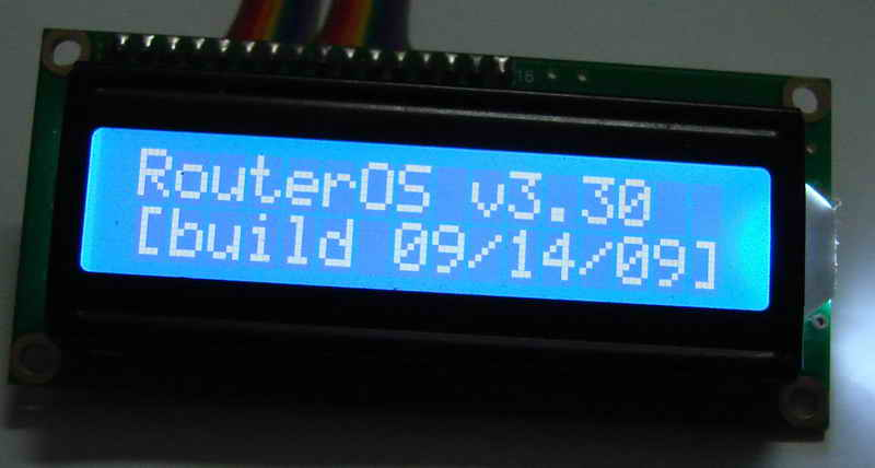 DownloaderWINDOWSLINUXrouteros LCD Parallel Port Information Display Module