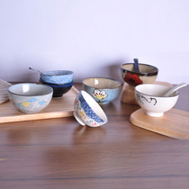 Rice bowls creative Ceramic bowl household hand-painted rice rice bowl Japanese-style Korean series fashion Restaurant foreign Trade tableware