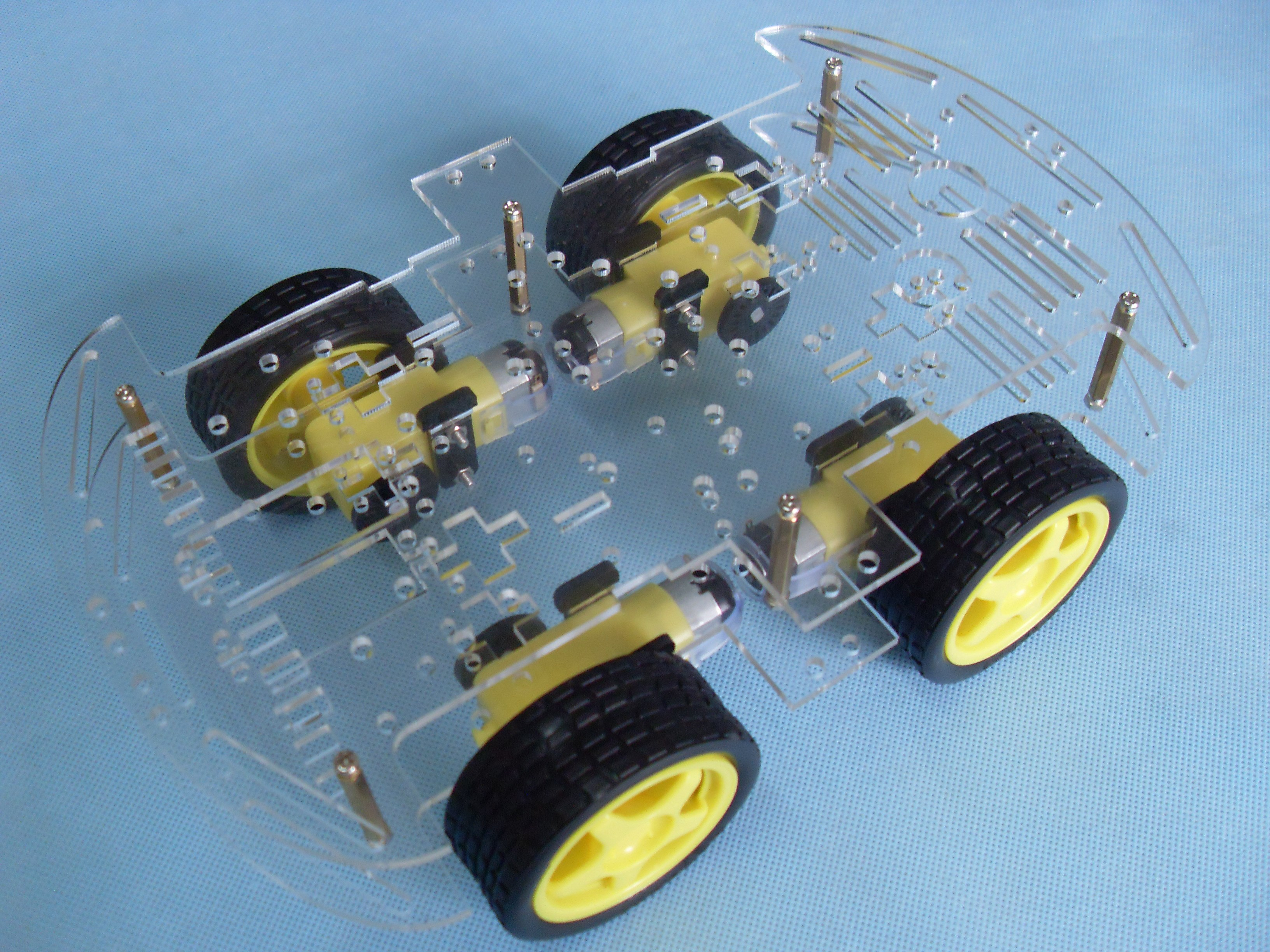 4WD Smart Car Chassis Four-wheel Drive Intelligent Car Body Send full set of information