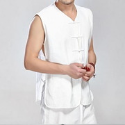 The old China vest in the wind every day special offer Chinese male costume old coarse cotton vest vest in summer