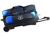 2015 new products listed American Elite pull rod bowling three ball bag three-ball bag multi-color optional! Blue Black