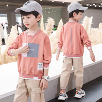 Boys T-shirt cotton 2020 new undershirt boys spring and autumn 9-year-old long-sleeved childrens suit Korean version of the tide 7 top 8