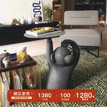 Скандинавская обезьяна поднос журнальный столик роскошь маленький круг несколько имитация цемента творческая художественная личность золотой маленький угол несколько сторон