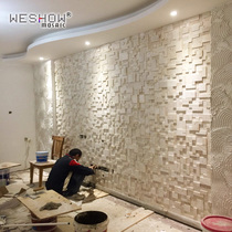 Beautiful European cave stone mosaic culture stone background wall natural stone puzzle TV Xuan Wall sticker Magnetic Tile