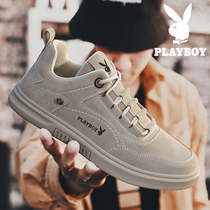 Playboy spring mens shoes 2019 new leather board shoes mens trend Joker casual shoes winter travel shoes