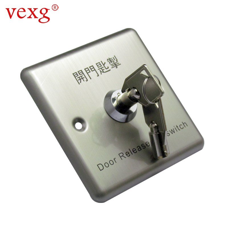 Vexg/stainless steel key switch emergency switch/access switch/panic button/access key switch