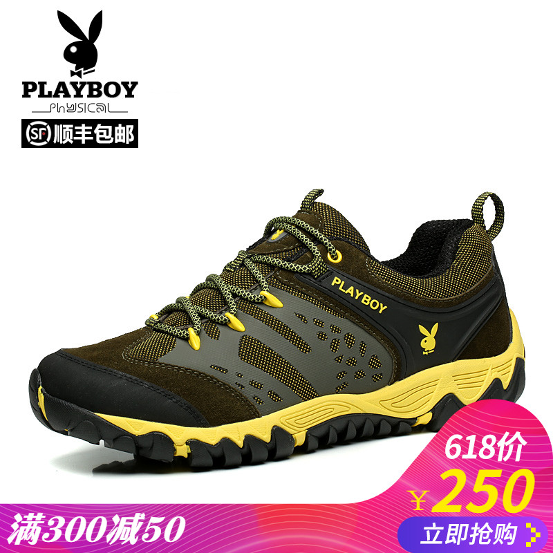 Playboy spring hiking shoes men's shoes breathable outdoor shoes women waterproof non-slip wear hiking shoes lovers shoes
