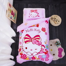 Cotton cartoon children six pieces by three-piece cotton candy kitty cat baby nursery bedding package