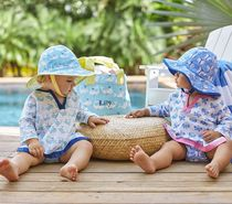 Small boys and girls lightweight cotton sun protection clothing Beach clothing air conditioned home wear Pajamas swim overalls