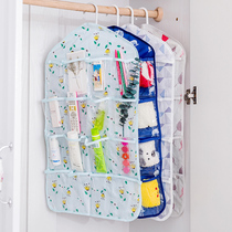 Hanging bag Wardrobe transparent 16 grid door hanging wall hanging type storage hanging bag wardrobe underwear classification storage