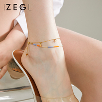ZENGLIU niche design net red anklet female models sexy Korean version simple personality 2021 new anklet female
