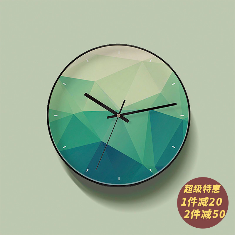 Silence Saturation of Quartz Creative Clocks in Modern Simple Living Room, Home Restaurant, Bedroom and Bedroom of Xingchuan Nordic Wall Clock