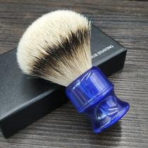 Imperial gemme bleue poignée grande spécification pointe argent tresssssser cheveux de blaireau Silvertip