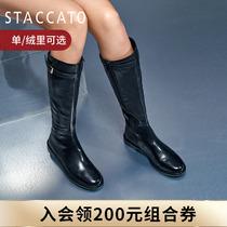 Sgatu 2020 Winter New Minimalist Handsome Knight Boots Boots High Boots Womens Leather Boots EAJ09DC0