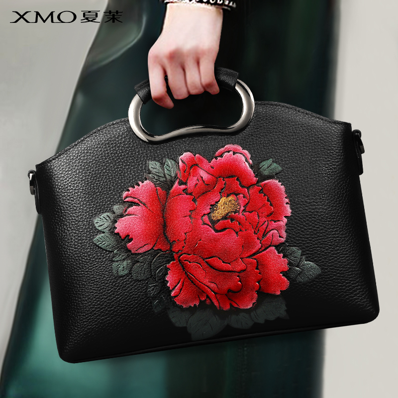 Handbag Girl 2019 New Autumn and Winter Korean Version Baijia Temperament Handbag Fashion Leather Middle-aged and Old Aged Slant Bag Small
