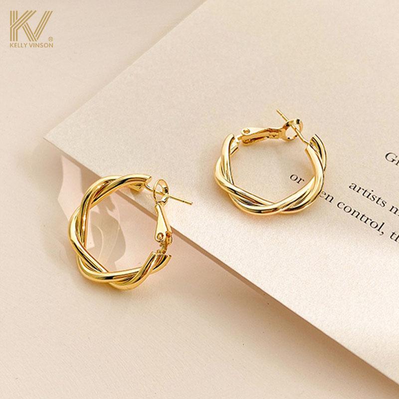 Circle earrings women Korean temperament net red high-level retro earrings womens pure silver European and American earrings 2020 new trend