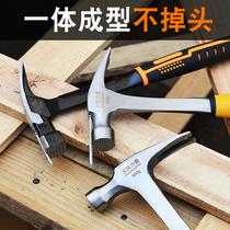 大汉力量一体实心方头直角锤连体羊角锤强磁麻面锤木工吸钉牙面锤