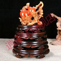 Aquarium support de base en bois massif Bouddha poêle Artisanat Gourde vase pots de fleurs en pierre étrange pierre ornements en bois siège