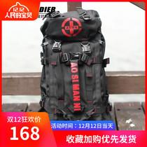 Genuine military fan tactical shoulder backpack bag single shoulder bag camouflage outdoor wear-resistant bag men mountaineering bag nylon Big bag