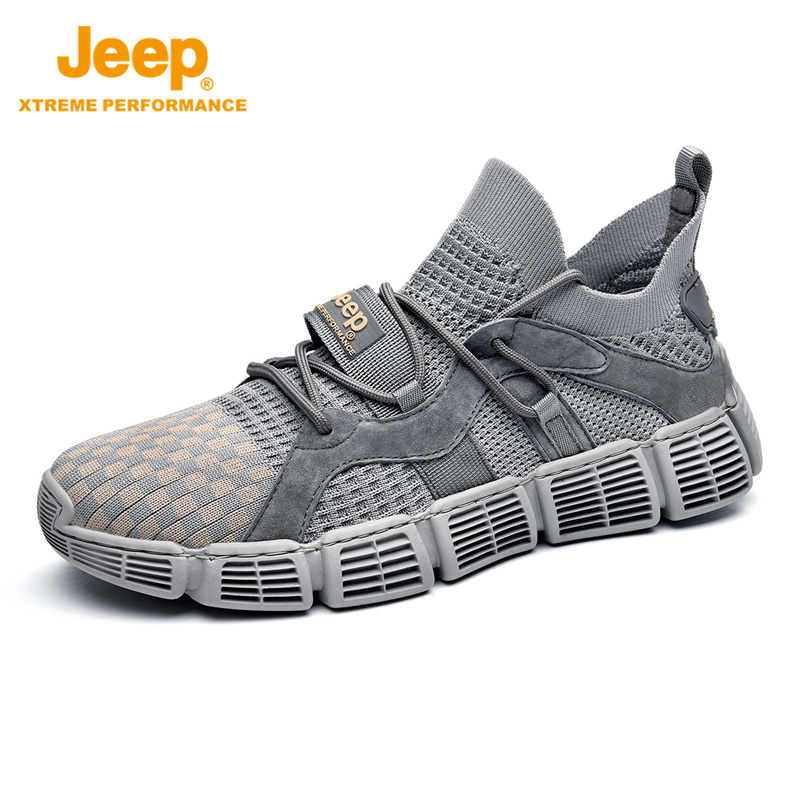 Jeep Jeep casual sneakers flying woven mens shoes outdoor hiking shoes breathable non-slip travel shoes mens foot