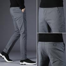 Casual pants mens summer 2021 new thin Korean version slim small feet trend versatile breathable mens long pants