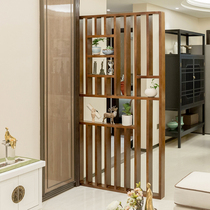New Chinese solid wood screen partition living room screen entrance gateway into the real wooden grille dry and wet zone partition